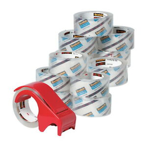 Scotch 3750 Commercial Grade Shipping Tape 1 88 Inches X 54 6 Yards Clear 12