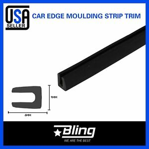 100feet 1 8 X 1 4 Car Accessory Edge Trim Guard Weather Stripping Auto Parts