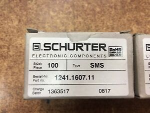 New Lot Of 102 Units Schurter 1241 1607 11 Switch Push Smd Ip67