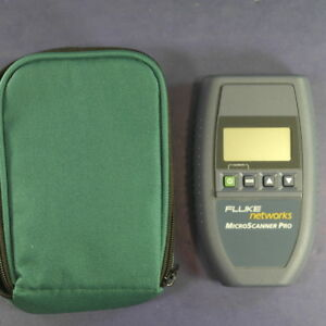 Fluke Microscanner Pro Cable Tester Mint Condition Green Case