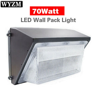 Commercial 70W LED WALL PACK Lights DUSK TO DAWN Outdoor Area Security Lighting $69.99