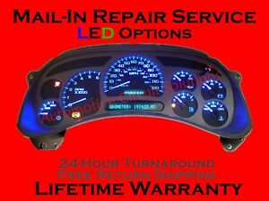 99 12 Gmc Gm Chevy Pontiac Silverado Instrument Gauge Cluster Repair Led Upgrade