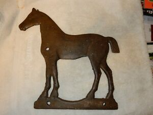 Antique Dempster Cast Iron Horse Windmill Weight 58c
