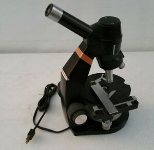 Nice Bausch Lomb Monocular Compound Microscope W mechanical Slide Attachment