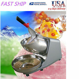 Us Electric Ice Shaver Crusher Machine Snow Cone Maker Shaved Icee 300w 132lbs h