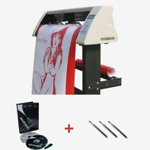 48 Sign Sticker Vinyl Cutter Plotter With Contour Cut Function stand software