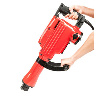 2200w 1 1 8 Electric Demolition Jack Hammer 1500w Concrete Breaker Chisels Red