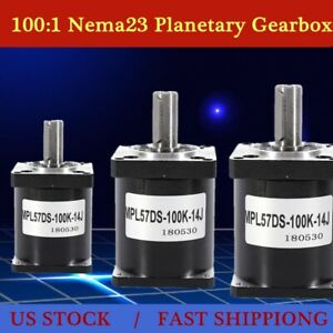 100 1 Planetary Gearbox Nema23 Stepper Motor For Diy Cnc Mill Lathe Router New