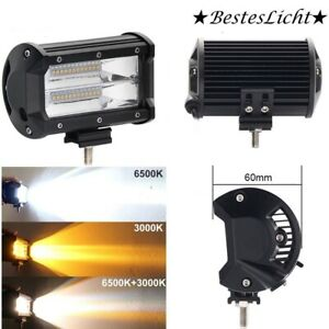 5 Inch 672w Led Work Light Bar Flood Combo Pods Driving Off Road Tractor 4wd 12v