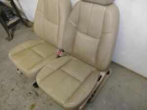 2007 Chevrolet Silverado 1500 Pair Of Front Tan Leather Electric Seats