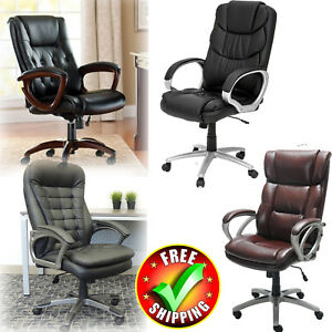 Modern Office Chair Contemporary Manager Upholster Executive Adjustable Lounge