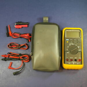 Fluke 87 Trms Multimeter Excellent Condition Screen Protector Case Extras