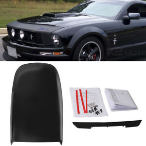 Gt V8 Front Air Bonnet Vent Cover Hood Scoop For 2005 2009 Ford Mustang Black