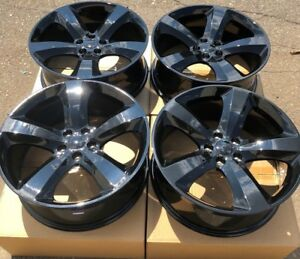 Set Of Four 20 X8 Wheels Rims Fit Dodge Charger Challenger Magnum Rt Black New