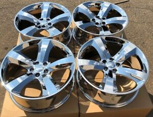 Set Four 20 X8 Wheels Rims Fit Dodge Charger Challenger Magnum Pvd Chrome New
