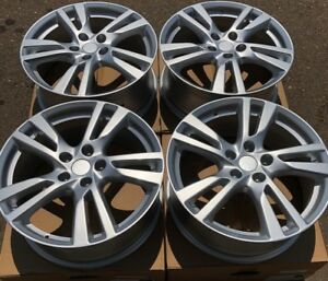 Set Of Four 4 18 X7 5 Wheels Rims Fits Nissan Maxima Altima Sentra Silver New
