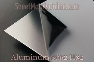 Aluminum Sheet Metal 5052 H32 Mill Finish 0 063 16 Gauge 36 X 24