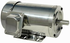 2 Hp Stainless Steel Electric Motor 56c Washdown 3 Phase 1800 Rpm