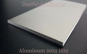 Aluminum Sheet Metal 5052 H32 Mill Finish 0 125 8 Gauge 36 X 24