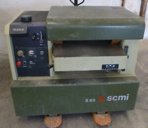 Scmi S63b Wood Planer 24 Made In Italy
