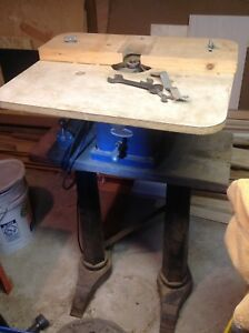 Dunlop Wood Router Machine And Table No Rust Includes Wrenches