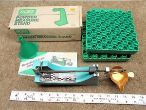 RCBS Lot 505 Scale  Powder Measure Stand  funnel   2 Case Loading Blocks