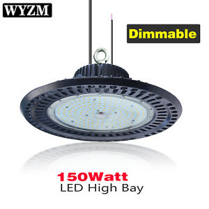 2pack 150w Dimmable High Bay Light Warehouse Shop Pole Barn Gym Gtorage Building