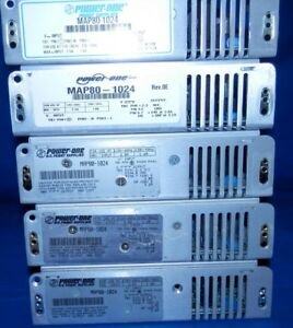 5 Used Untested power One Map80 1024 24vdc 80w Power Supplies chassis Mount