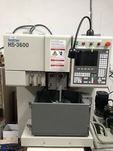 Brother Hs 3600 Wedm Wire Edm 4 Axis Scales Owned By School Low Hours Cnc