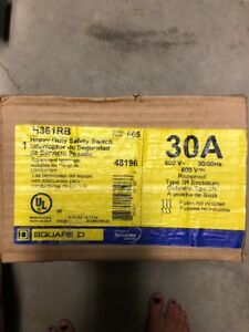 Square D H361rb Heavy Duty Disconnect Switch Rain Tight New