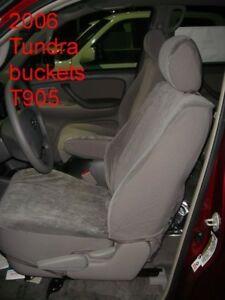 2005 2006 Toyota Tundra D Cab Bucket Rear Bench Exact Fit Seat Covers Gray