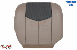 2003 2004 Chevy Avalanche Lt Z71 Z66 Passenger Bottom Leather Seat Cover Tan