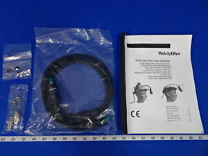 Welch Allyn 49543 Dual Fiber Optic Headlight Cable With Manual 90 Day Warranty