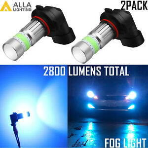 Alla Lighting 9006 72 Led Cool Ice Blue Driving Fog Light Bulb Replacement 8000k