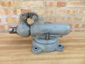 Vintage Machinist Wilton Swivel Bullet Style Work Bench Table Vise