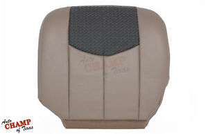 2003 2004 Chevy Avalanche Z71 Z66 Driver Side Bottom Leather Seat Cover Tan Gray
