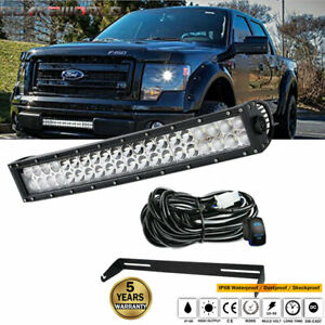 20 Inch Led Light Bar W Lower Grille Hidden Bumper For 2010 2014 Ford F150