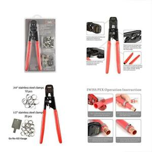 Iwiss Pex Cinch Clamp Crimping Tool For Stainless Steel Clamps Sizes From 3 8