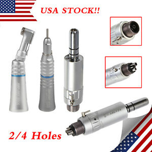 Dental Contra Angle Straight Handpiece Air Motor Fit Nsk Low Speed E type 4holes