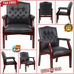 Conference Chair Reception Office Desk Guest Visitor Lecture Exam Armchair Wood