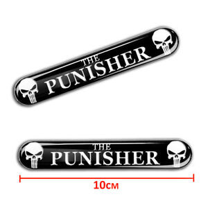 2 X Domed 3d Stickers Punisher Vinyl Decal Tuning Logo Auto Moto Car Van Ks 109