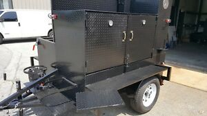 Chicken Flipper Smoke House Bbq Smoker W Side Grill Trailer Food Truck Catering