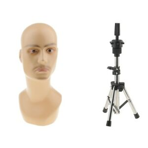 Male Sports Caps Toupee Display Mannequin Head Manikin W Holder Stand Set