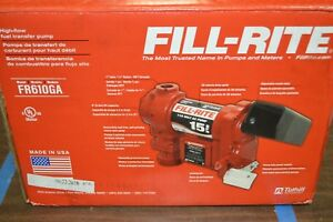 Fill rite Fr610ga 1 6 Hp Cast Iron Fuel Transfer Pump 15 Gpm 115vac 30j093