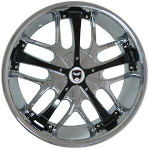 4 Wheels 18 Inch Chrome Black Savanti Rims Fits Et20 Audi All Road 2002 2004