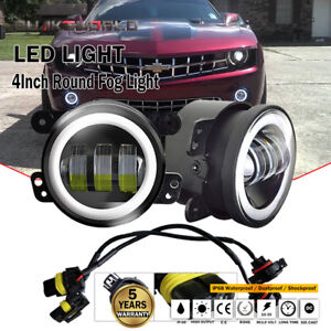 4inch 30w Fog Lights Projector Car Lamp White Halo Angel Eyes Ring Drl Bulb