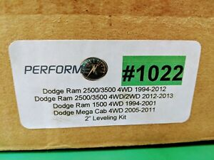1022 Performex 2 Inch Leveling Kit Ram 2500 3500 4wd 1994 13