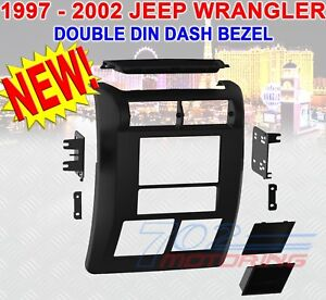 Jeep Wrangler Tj 1997 2002 Double Din Dash Bezel Radio Stereo Mounting