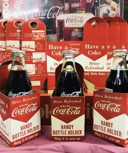 3 Original 40s 50s Coca Cola Handy Coke Holder Vintage Soda Collectible look