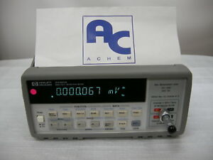 good 30 Days Warranty Hp Agilent 34420a Micro ohm Meter 7 Digit